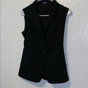 Express women's button sleeveless blazer size xs